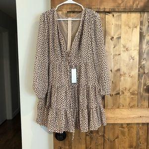 Eli leopard print flare dress